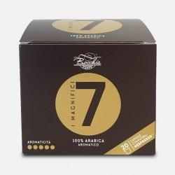"""20 Capsule """"I Magnifici Sette"""" Nespresso* compatibili Bocchia caffè"""
